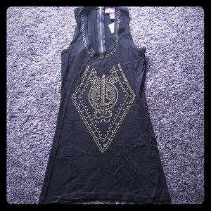 Say What? Gold Stud Tank NWT